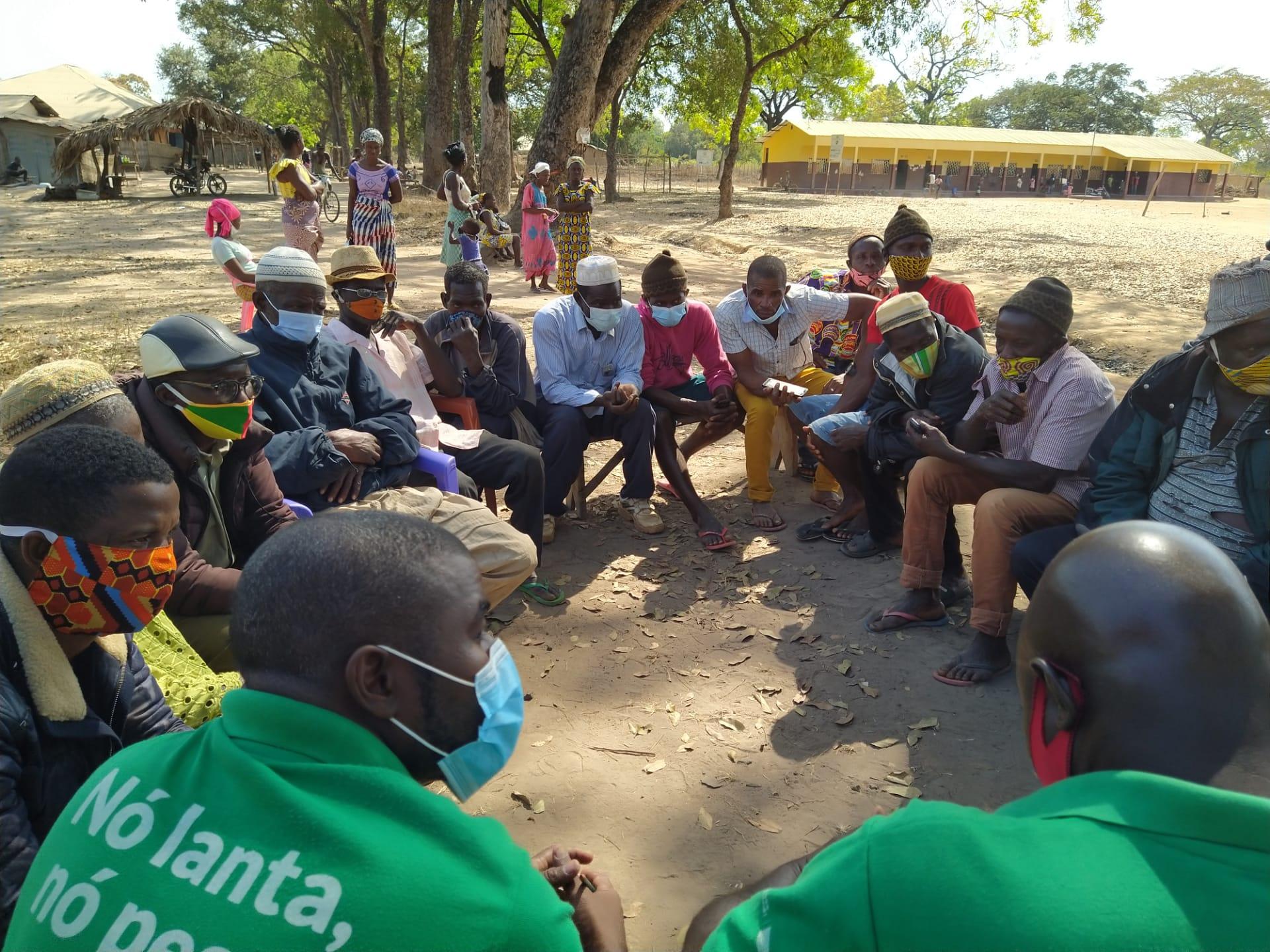 Community meeting in Guinea Bissau